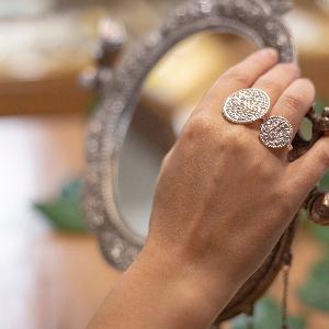 Large Asarfi coin ring