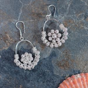 Tibetan flower earrings