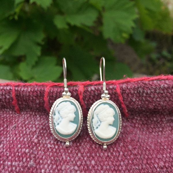 Large Cameo earrings